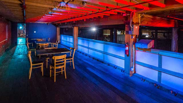 nightclub deck mezzanine overlooking nightclub scene in downtown los angeles film and photography studio for rent