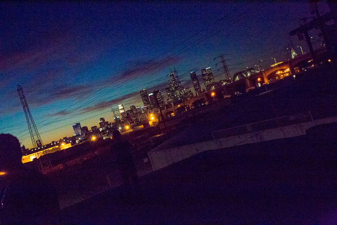 industrial rooftop in downtown la city film and photography shoot space