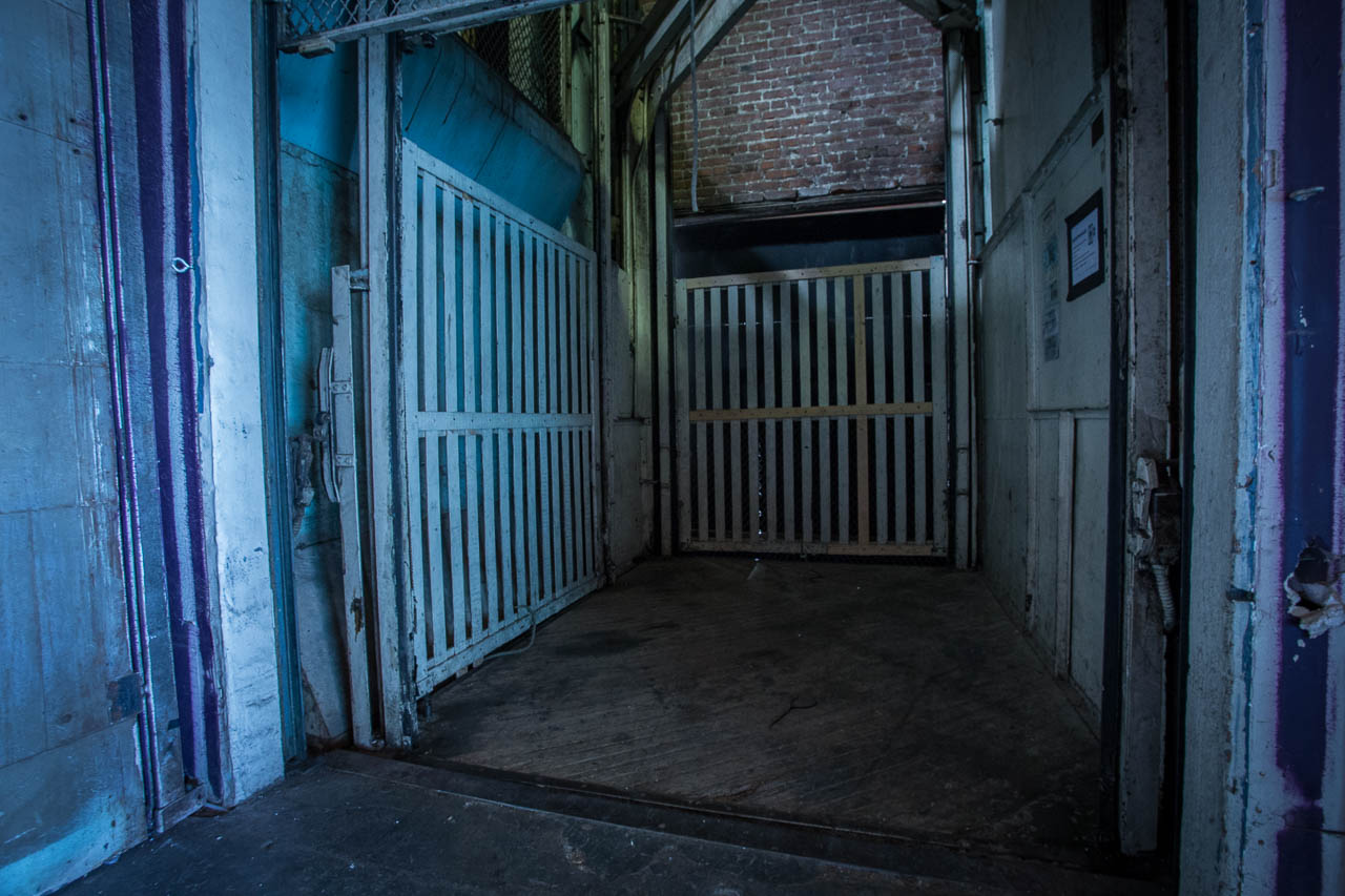 Freight Elevator Set - Film & Photo Creative Space in LA inside a huge Industrial Warehouse