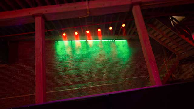 pre-lit stage in nightclub scene for film photography studio rental services in downtown la